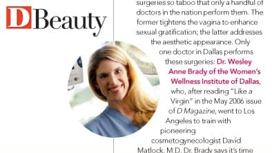 Beauty Article Photo in D Magazine