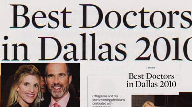 Best Doctors in Dallas 2010 Article in D Magazine