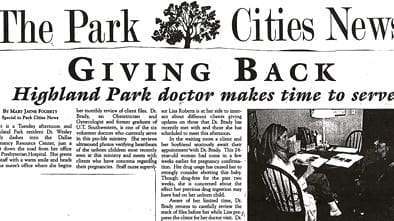 The Park Cities News Article Cover Image